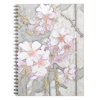 Almond Blossom Fence Spiral Notebook