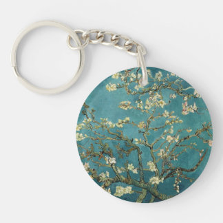 Almond Blossom Double-Sided Round Acrylic Keychain