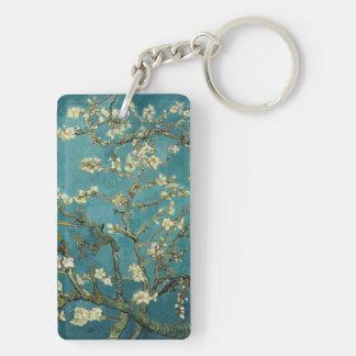 Almond Blossom Double-Sided Rectangular Acrylic Keychain