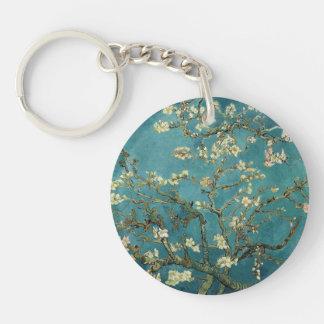 Almond Blossom Single-Sided Round Acrylic Keychain