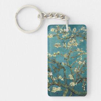 Almond Blossom Single-Sided Rectangular Acrylic Keychain