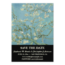 """Almond Blossom"" Save the Date w/ Website Magnetic Card"