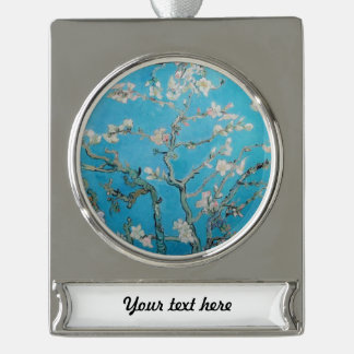 Almond Blossom Silver Plated Banner Ornament