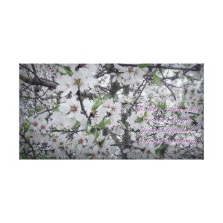 Almond Blossom Wedding Memory Canvas Print