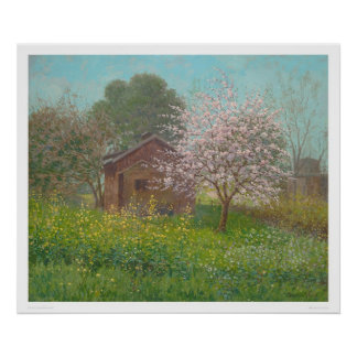 Almond Blossoms and Wild Mustard (1152) Poster
