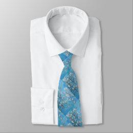 Almond Blossoms Blue Vincent van Gogh Art Painting Neck Tie