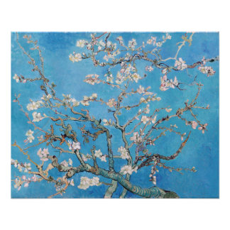 Almond Blossoms Blue Vincent van Gogh Art Painting Poster