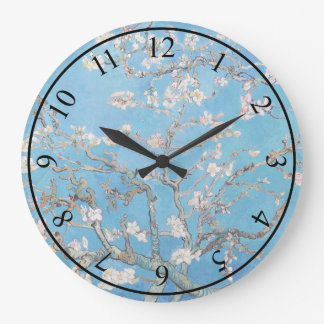 Almond Blossoms Blue Vincent van Gogh Art Painting Wallclock