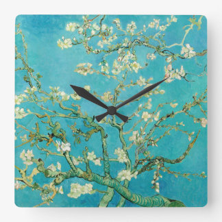 Almond Blossoms by van Gogh Square Wall Clock