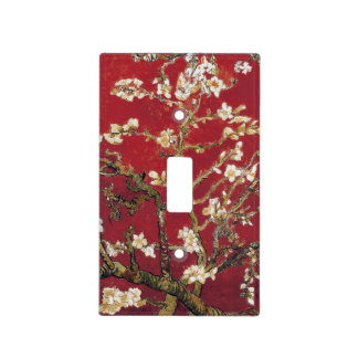 Almond Blossoms Red Vincent van Gogh Art Painting Light Switch Cover