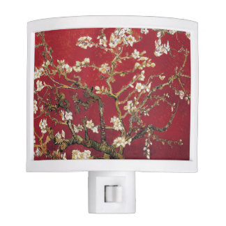 Almond Blossoms Red Vincent van Gogh Art Painting Night Light