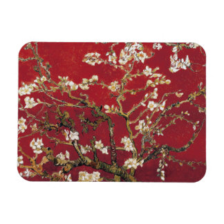 Almond Blossoms Red Vincent van Gogh Art Painting Rectangular Photo Magnet