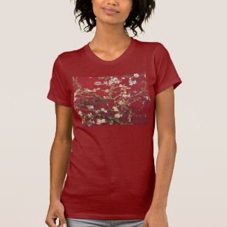 Almond Blossoms Red Vincent van Gogh Art Painting T-Shirt