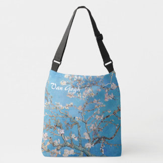 Almond Blossoms Tree Blue Vincent van Gogh Art Crossbody Bag