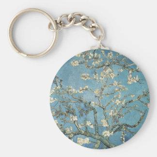 Almond branches in bloom, 1890, Vincent van Gogh Basic Round Button Keychain