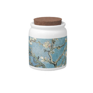 Almond branches in bloom, 1890, Vincent van Gogh Candy Jar