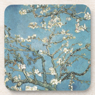 Almond branches in bloom, 1890, Vincent van Gogh Drink Coaster