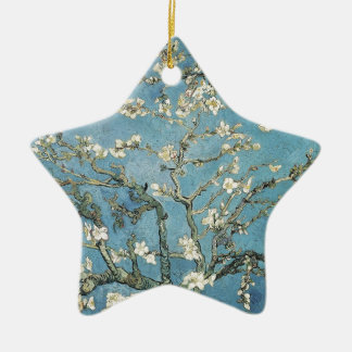 Almond branches in bloom, 1890, Vincent van Gogh Double-Sided Star Ceramic Christmas Ornament
