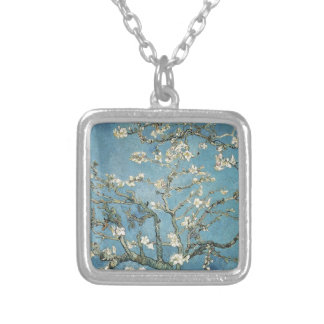 Almond branches in bloom, 1890, Vincent van Gogh Square Pendant Necklace