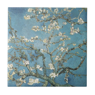 Almond branches in bloom, 1890, Vincent van Gogh Small Square Tile