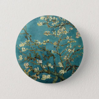 Almond Branches in Bloom Button