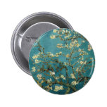 Almond Branches in Bloom Pinback Buttons