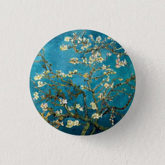 Almond Branches in Bloom Round Pinback Pinback Button