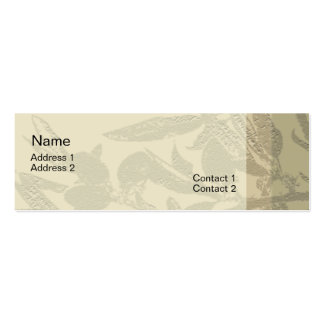 Almond Branches Profile Card Mini Business Card