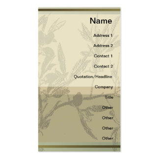 Almond Branches Vertical Profile Card Business Card