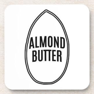Almond Butter inside an Almond Beverage Coaster