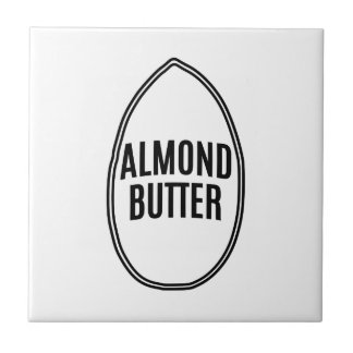 Almond Butter inside an Almond Ceramic Tile