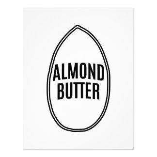 Almond Butter inside an Almond Letterhead