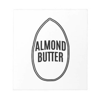 Almond Butter inside an Almond Notepad