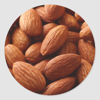 Almond Classic Round Sticker