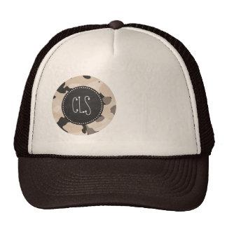 Almond Color Camo; Retro Chalkboard Trucker Hat