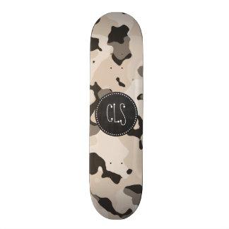 Almond Color Camo; Retro Chalkboard Skateboard