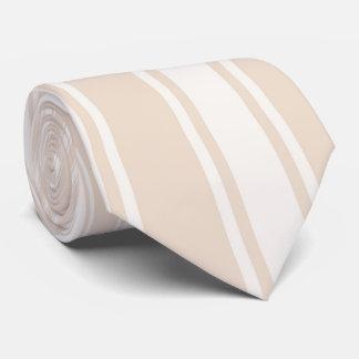 Almond Color Stripe Funky Pattern Neck Tie