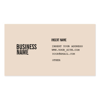 Almond Condensed Fonts Double-Sided Standard Business Cards (Pack Of 100)