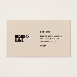 Almond Condensed Fonts Business Card