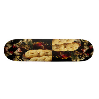 Almond cookies with dragon skate decks