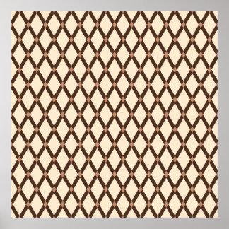 Almond Diamonds-Brown Frames Poster