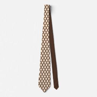Almond Diamonds-Brown Frames Tie