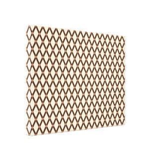 Almond Diamonds-Brown Frames Wrapped Canvas