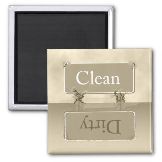 Almond Dirty Clean Dishwasher Magnet
