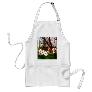 almond flower beauty and peace adult apron