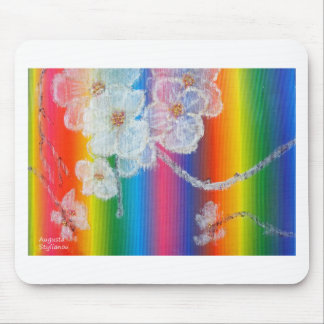 Almond Flowers in Spectrum Mouse Pad
