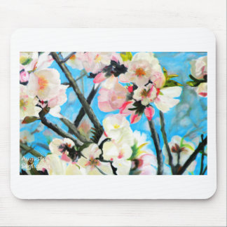 Almond Flowers Mouse Pad