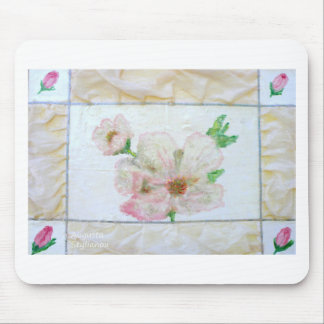 Almond Flowr and Rose Buds Mouse Pad