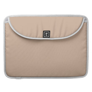 Almond High End Solid Color MacBook Pro Sleeve
