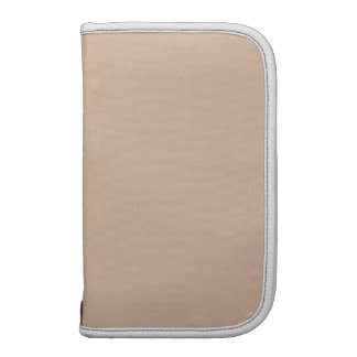 Almond High End Solid Color Folio Planner